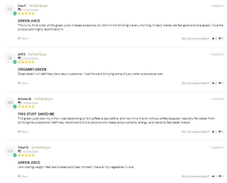 organifi green juice customer reviews