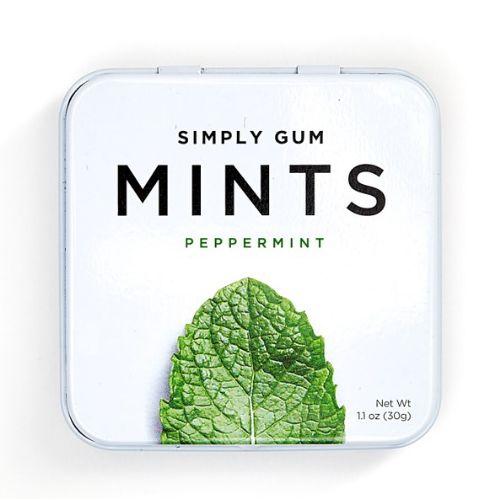 Simply Gum natural peppermint flavor